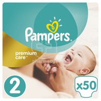PAMPERS - PREMIUM CARE New Baby No2 (3-6kg) - 50 πάνες