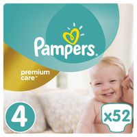 PAMPERS PREMIUM CARE ΜΕΓ 4 (8-14kg)1x52 JUMBO
