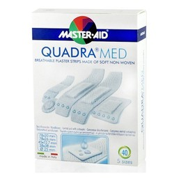 Master Aid Quadra Med Strip Διάφορα 40τμχ