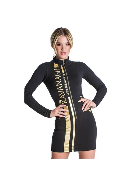 Gianni Kavanagh Black Champion Racer Zip Dress
