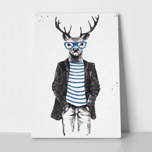 Hand drawn dressed hipster deer 411312388 a