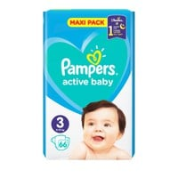 PAMPERS ACTIVE BABY No3 (6-10 KG) MAXI PACK (66TEM)
