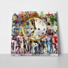 People and time art