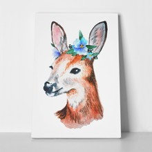 Watercolor illustration cute young deer 357845795 a