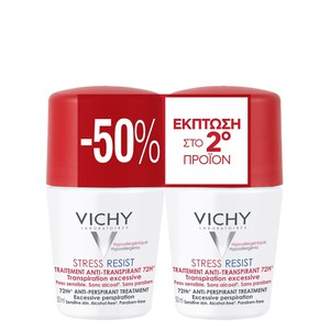 Vichy  deodorant roll on 72h 2x50ml