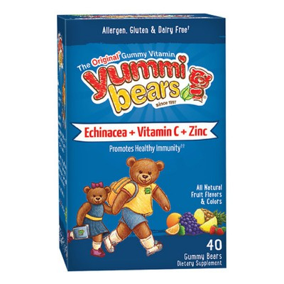 HERO NUTRITIONALS - YUMMI BEARS Echinacea+Vitamin C & Zinc - 40 jellies