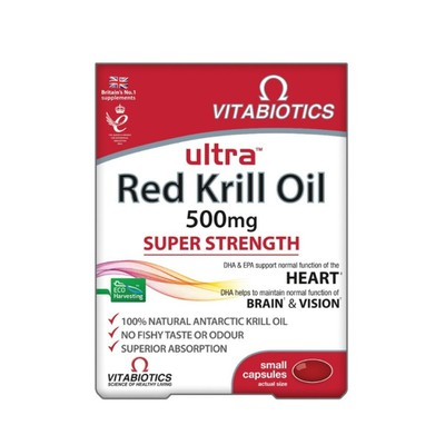 Vitabiotics - Ultra Red Krill Oil - 30caps
