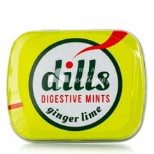 Dills Kαραμέλες Digestive Mints Ginger Lime - Δυσπεψία, 15gr