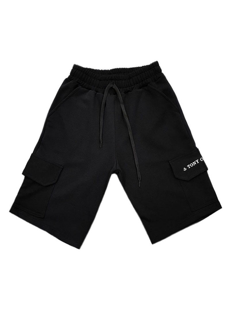 TONY COUPER BLACK TS POCKET SHORTS
