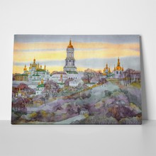 Watercolor edifices of kiev 312565367 a