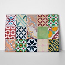 Portugese set of ornamental tiles 106137056 a