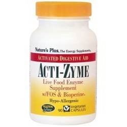 Nature's Plus Acti-Zyme Πεπτικά Ένζυμα 90 Φυτοκάψουλες
