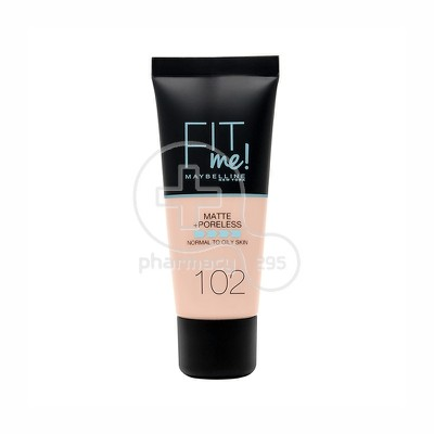 MAYBELLINE - FIT ME Matte & Poreless Foundation No102 (Fair Ivory) - 30ml