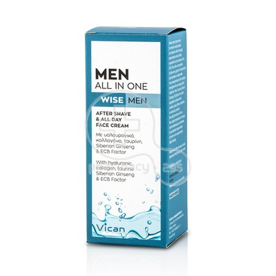 VICAN - MEN ALL IN ONE After Shave & All Day Face Cream - 50ml