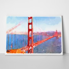 Watercolor illustration san francisco golden gate 265851113 a