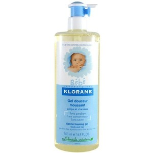 Klorane baby series gel douceur moussant 500ml