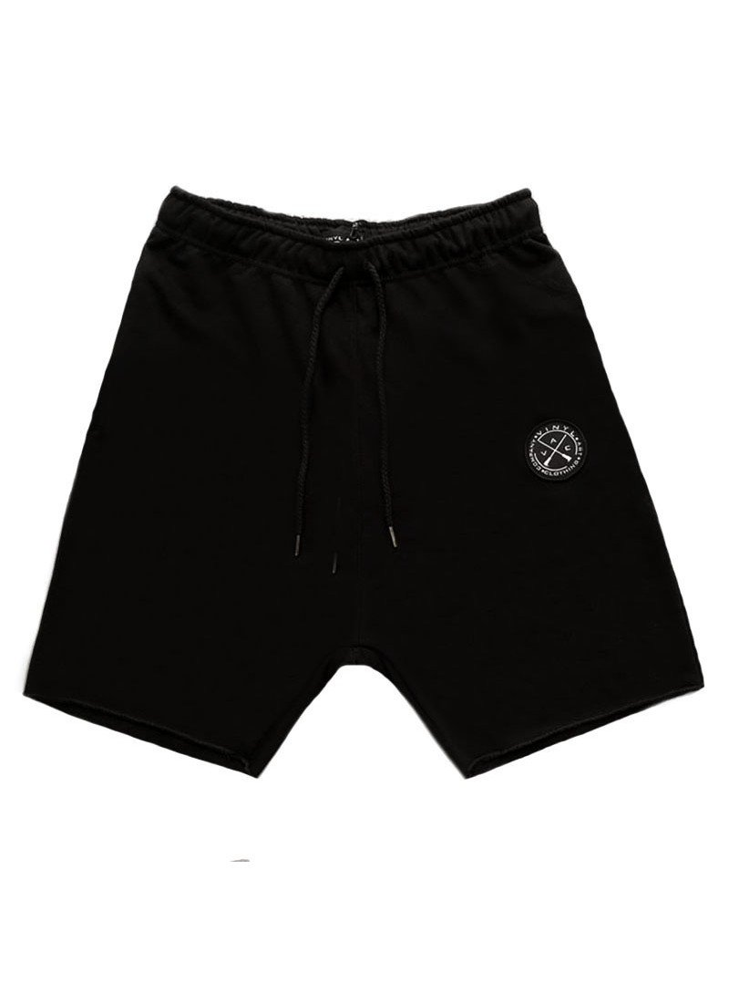VINYL ART CLOTHING BLACK JOGGER SHORTS
