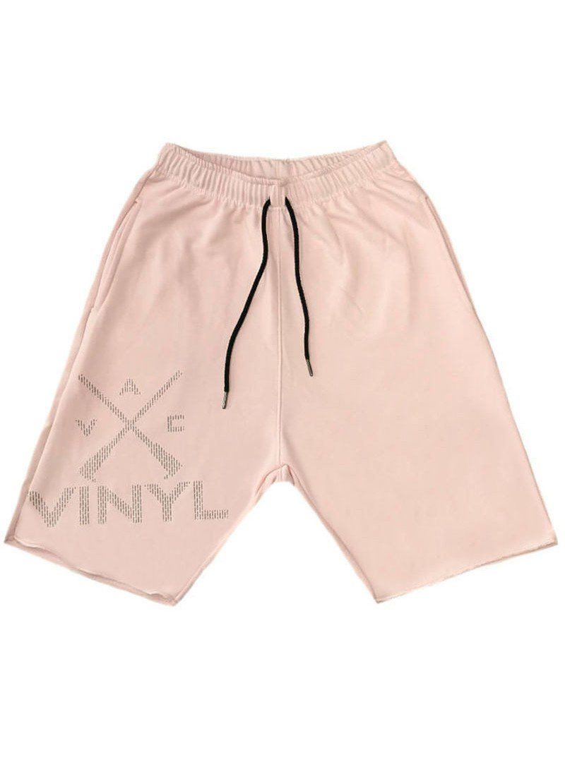 VINYL ART CLOTHING PINK LOGO SHORTS