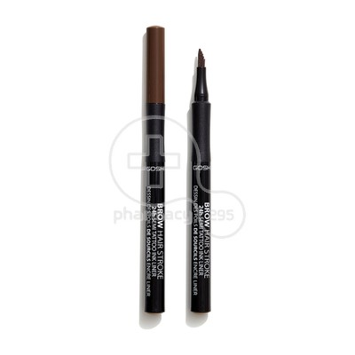 GOSH - BROW HAIR STROKE 24h Semi Tatoo Ink Liner No003 Dark Brown - 1ml
