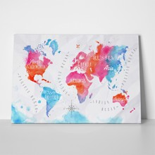 Colourful watercolor continents map 221659564 a