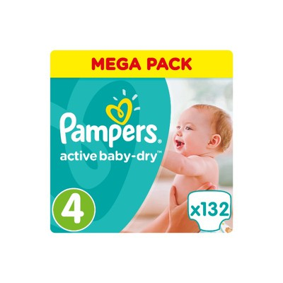 Pampers - Active Baby Dry Mega Pack No4 Maxi (8-14 kg) Βρεφικές Πάνες - 132 τεμάχια