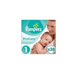 Pampers Procare Premium Protection Size 1 (2-5kg) 38 Diapers
