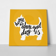 West highland white terrier poster silhouette 282799721 a