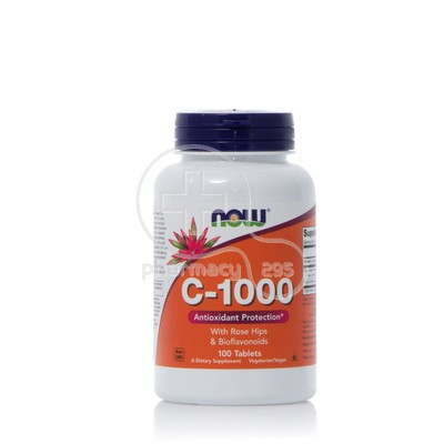 NOW - Vitamin C 1000mg with Rose Hips & Bioflavonoids - 100tabs