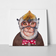Monkey watercolor hipster 189686351 a