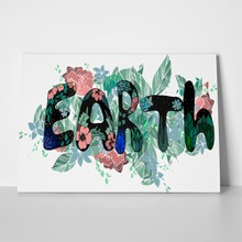 Floral beautiful word earth 1049695931 a